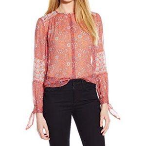 Rebecca Taylor Silk Amanda Print Boho Top Shirt 2